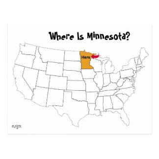 ¿Dónde está Minnesota? Tarjetas Postales