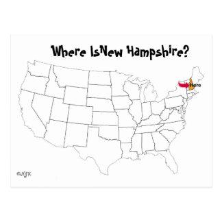 ¿Dónde está New Hampshire? Tarjetas Postales