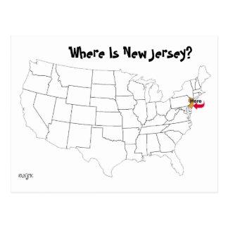 ¿Dónde está New Jersey? Tarjeta Postal