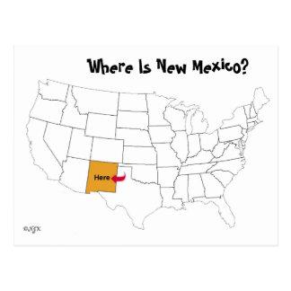 ¿Dónde está New México? Postal
