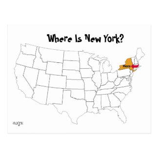 ¿Dónde está Nueva York? Tarjeta Postal