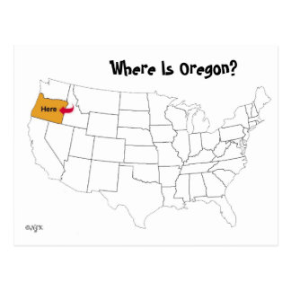 ¿Dónde está Oregon? Tarjeta Postal