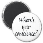 ¿Dónde está su conciencia? Imán (del blanco)