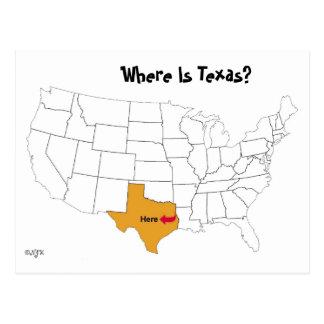 ¿Dónde está Tejas? Postal