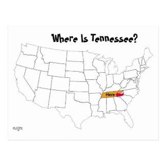 ¿Dónde está Tennessee? Tarjeta Postal