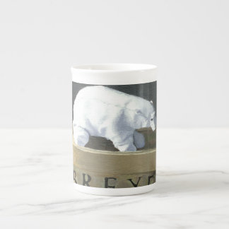 ¿Dónde está un oso polar a vivir? II Tazas De Porcelana