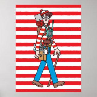 Donde está Waldo con todo su equipo Póster
