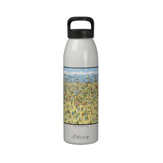 Donde está Waldo en la playa Botella De Agua