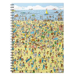 Donde está Waldo en la playa Libro De Apuntes