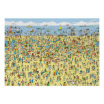 Donde está Waldo en la playa Póster