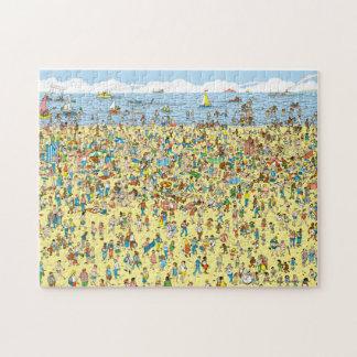Donde está Waldo en la playa Puzzles Con Fotos