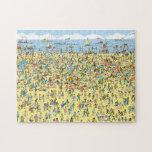 Donde está Waldo en la playa Rompecabeza