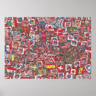 Donde está Waldo enorme vaya de fiesta Póster