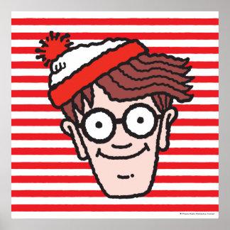 Donde está Waldo haga frente Póster