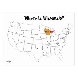 ¿Dónde está Wisconsin? Postales