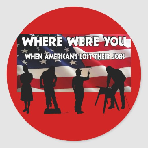 Donde estaba usted América Pegatina Redonda