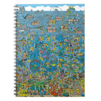 Donde están los buceadores del mar profundo de cuadernos