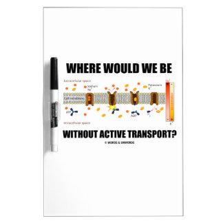 ¿Dónde estaríamos sin transporte activo? Pizarras Blancas De Calidad