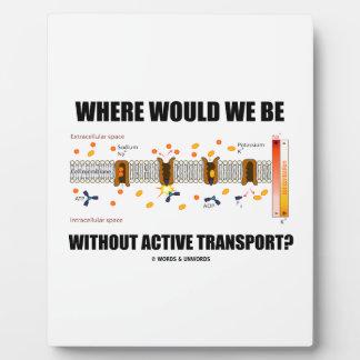 ¿Dónde estaríamos sin transporte activo? Placa De Madera