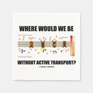 ¿Dónde estaríamos sin transporte activo? Servilletas De Papel