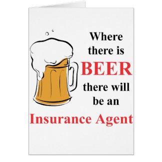 Donde hay cerveza - agente de seguro tarjetón
