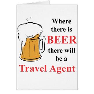 Donde hay cerveza - agente de viajes tarjetas