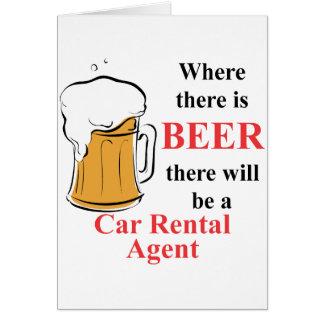 Donde hay cerveza - agente del alquiler de coches tarjetas