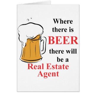 Donde hay cerveza - agente inmobiliario felicitación