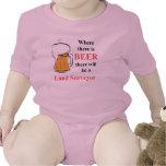 Donde hay cerveza - aterrice al topógrafo trajes de bebé