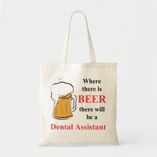 Donde hay cerveza - ayudante de dentista bolsa tela barata