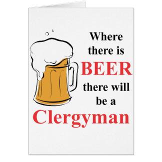 Donde hay cerveza - clérigo tarjeta pequeña