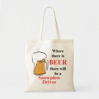 Donde hay cerveza - conductor del Snowplow Bolsa Tela Barata
