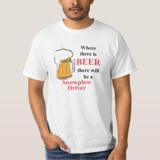 Donde hay cerveza - conductor del Snowplow Polera