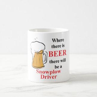 Donde hay cerveza - conductor del Snowplow Taza De Café