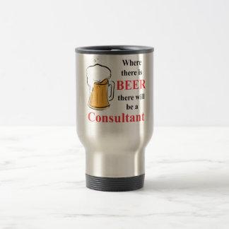 Donde hay cerveza - consultor taza de viaje