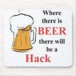 Donde hay cerveza - corte alfombrillas de raton