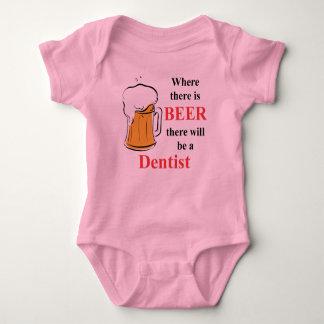 Donde hay cerveza - dentista body para bebé