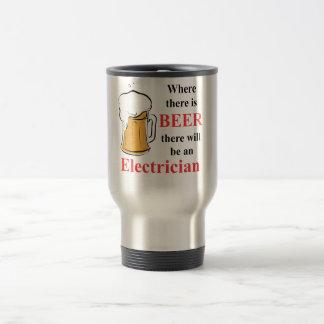 Donde hay cerveza - electricista taza de viaje