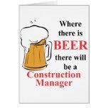 Donde hay cerveza - encargado de la construcción tarjeta
