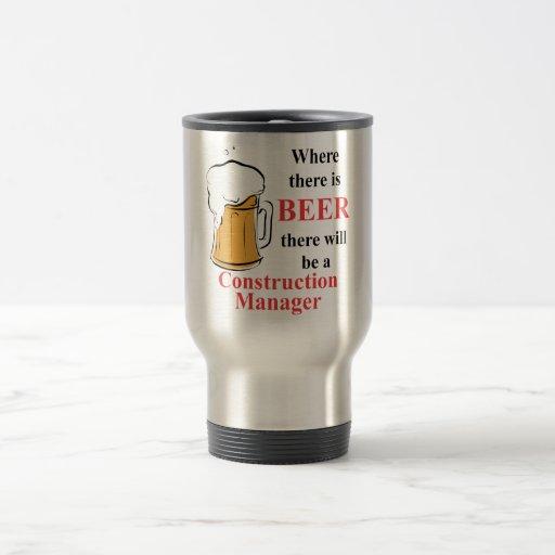 Donde hay cerveza - encargado de la construcción tazas de café