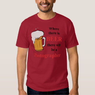Donde hay cerveza - fotógrafo polera