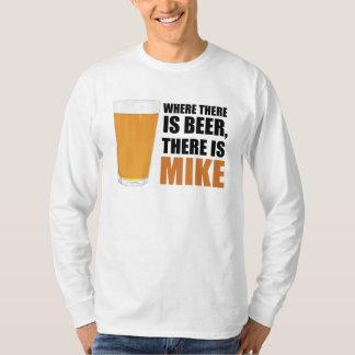 Donde hay cerveza, hay Mike L/S básico Poleras