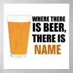 Donde hay cerveza, hay poster conocido