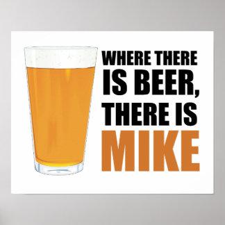 Donde hay cerveza, hay poster de Mike