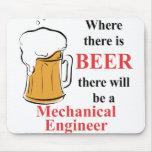 Donde hay cerveza - ingeniero industrial tapete de ratones
