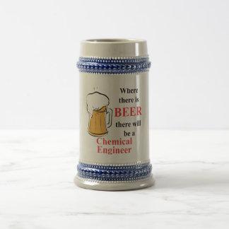 Donde hay cerveza - ingeniero químico jarra de cerveza