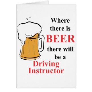 Donde hay cerveza - instructor de conducción tarjeta pequeña