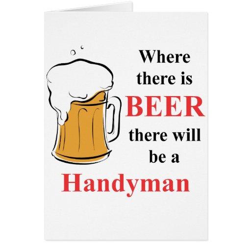 Donde hay cerveza - manitas felicitación