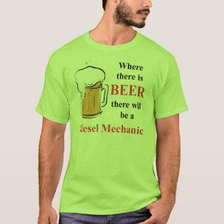 Donde hay cerveza - mecánico diesel playera