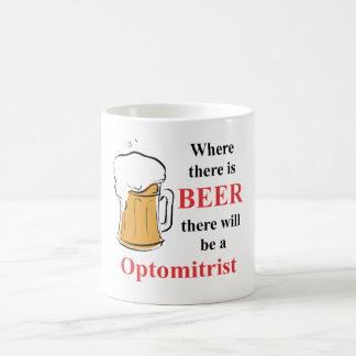 Donde hay cerveza - Optomitrist Taza Básica Blanca